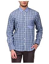Yepme Men's Checks Blue Cotton Shirt- YPMSHRT0496_38