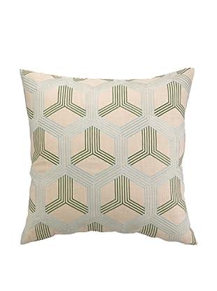 Peking Handicraft Boomerang Pillow, Sky/Green