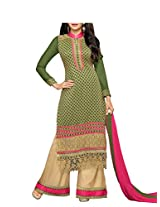 Admyrin Women's Green Georgette Salwar Kameez