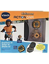 V Tech Kidizoom Action Cam With Case, Mounts And Accessories, Yellow/Black