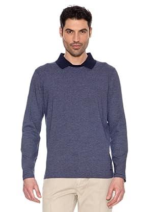 Pedro del Hierro Camiseta Cuello Polo (Azul)