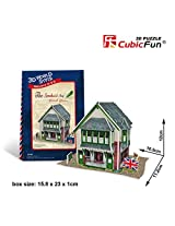 3 D Jigsaw Puzzle The Sandwich Shop Cubic Fun 3 D Puzzle W3106h 36 Pieces Decorative Fashion Best Seller Cubic Fun Exiting Fun Educational Historic Playing Building Game Diy Holiday Kids Best Gift Toy Set