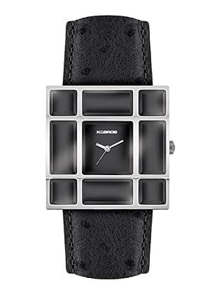 K&BROS 9170-1 / Reloj de Señora  con correa de piel negro