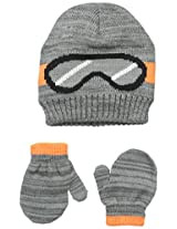 Carters Baby-Boys Aviator Hat and Mitten Set