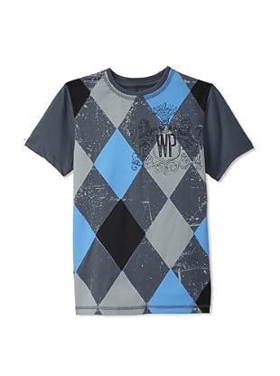 Warrior Poet Boys Argyle T-Shirt (Graphite)
