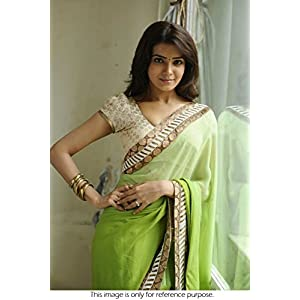 Light Green Bollywood replica saree