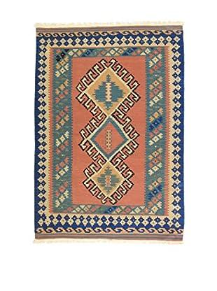 Eden Teppich Kilim-P lachs/blau 123 x 183 cm