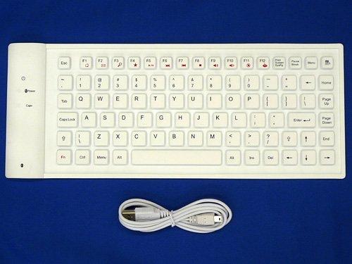 iPhone/iPad対応のくるくる巻けるBluetoothキーボード「Bluetooth Flexible Keyboard」