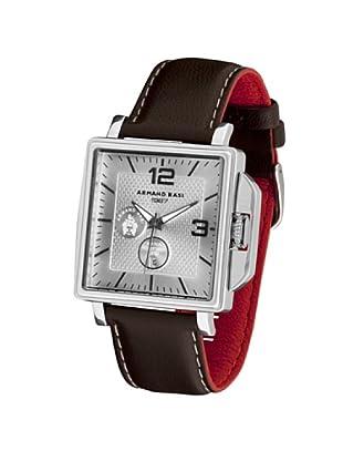 ARMAND BASI A0821G04 - Reloj de Caballero movimiento de cuarzo con correa de piel Marrón