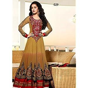 Stylelok Women Georgette Salwar Suit Set (Sl 71330 _Brown _Free Size)