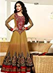 Stylelok Brown Georgette Shradhha Anarkali Suit Sl 71330