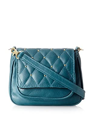 gorjana Women's Hudson Quilted Small Cross-Body, Teal