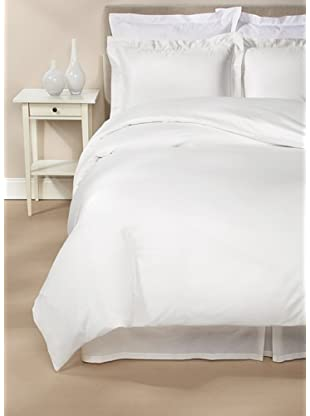 Peacock Alley Ballet Hemstitch Duvet Cover Set (White)