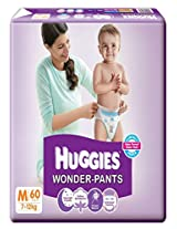 HUGGIES WONDER PANTS DIAPERS - MEDIUM - 60 PIECES