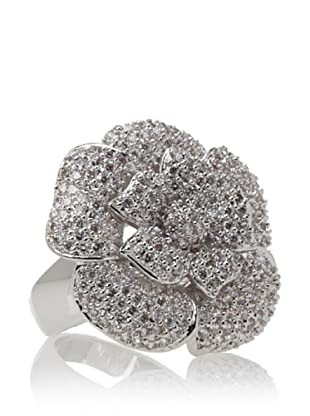 Cubic Zirconia by Kenneth Jay Lane Floral Ring, Size 7