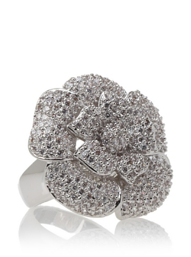 CZ by Kenneth Jay Lane Floral Ring, Size 7