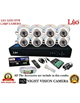 AHD LIO 8CH DVR + AHD 1.3 Megapixel High Resolution LIO 36IR DOME CAMERA 8pcs + 1 TB WD HDD + CABLE 3+1 COPPER + POWER SUPPLY (FULL COMBO)