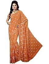 Sthri orange party wear georgette sari(A4Shri5029, Orange)