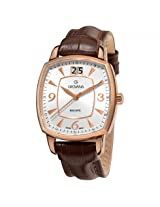 Grovana Big Date Silver Dial Rose Gold-Tone Men'S Watch - Gro1719-1562