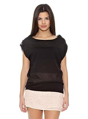 Springfield Camiseta Raya Lurex (Negro)