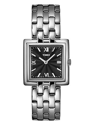 Timex T2M999. Reloj de Señora movimiento de cuarzo con brazalete metálico Negro