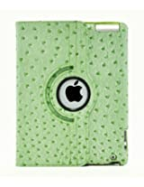 LiViTech(TM) Ostrich Design Series 360 Rotating PU Leather Case Smart Cover for Apple iPad Air, iPad 5 (iPad 4 3 2, Green)