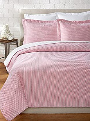 Eileen West Seersucker Stripe Quilt Set