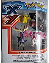 Pokemon Xy Super 4 Pack Xerneas, Pikachu, Sylveon And Yveltal