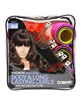 Conair Body & Long Lasting Curls Magnetic Hair Rollers 50 Count