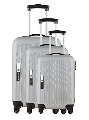 Platinium Set 3 Trolleys 4 Ruedas Tonga (Plata)