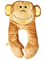 Design Go Monkey Flat Neck Pillow