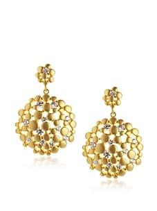 Belargo Women's Floral Drop Earrings, Gold
