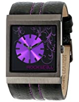 Rockwell Rockwell Time Unisex Mc121 Mercedes Black Leather And Purple Watch - Mc121