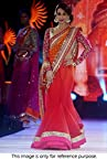 Malaika Arora Khan Red and Orange Net Bollywood Saree