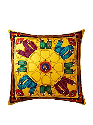 Ralph Lauren Ribbons Scarf Pillow, Yellow/Multi