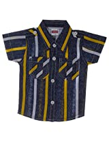 Little Smart Baby Boys' Cotton Shirt (12-18 months, Multi-Color)