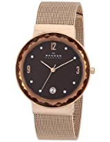 Skagen Klassik Analog Brown Dial Women's Watch - SKW2068