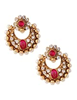 Ethnic Indian Artisan Jewelry Set Pretty Dangler EarringsBAEA0355RA