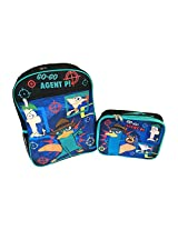 Disney Phineas and Ferb Go-Go Agent P! 15 Inch Backpack and Insulated Lunch Bag Bundle