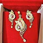 AD stones Pendant Earrings set