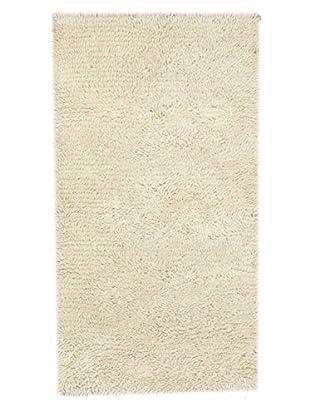 Hand-Knotted Nouveau Shag, White, 2' 11