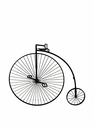 The Import Collection Starley Oversized Metal Bike Wall Art, Brown