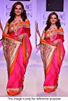 Bollywood Replica Mandira Bedi Satin Chiffon Saree In Pink Colour NC544