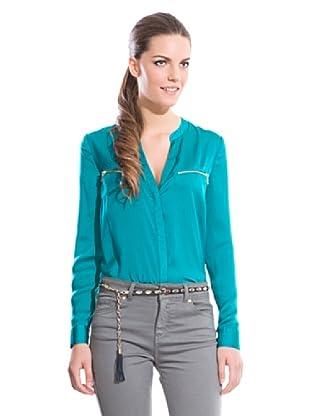 Cortefiel Camisa Cremalleras (Azul)