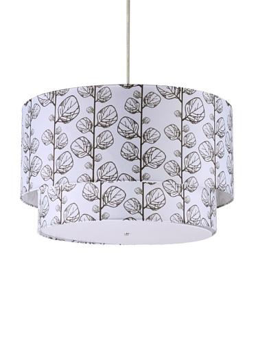 Inhabit Floral Hudson Double Pendant Lamp (Flora/Chocolate)