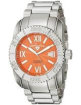 Swiss Legend Men's 10059-66 Commander Orange Textured Dial Stainless Steel Watch