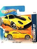 2010 Hot Wheels (Yellow) Callaway C7 #162/214, Hot Auction #6/10 (Short Card)