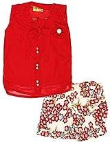 Tiny Girls' Net Clothing Set (RKW002-1 year, Multi-colour, 1 year)