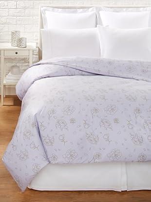 Twinkle Living Rose Duvet Cover, Lavender/French Grey, King