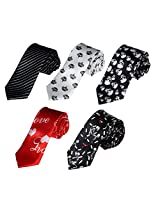 DANF0022 Presents Thin Neck Ties Stain Skinny Ties Set Youth - 5 Styles Available By Dan Smith